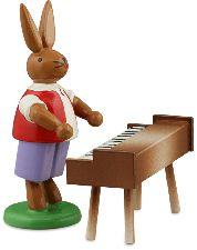Osterhasenmusikant mit Klavierset